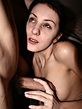 Deep Blowjob Attractive Brunette Does To Her Fucker - Picture 16